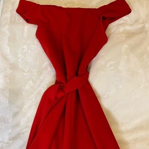 Forever 21 red jumpsuit - size S